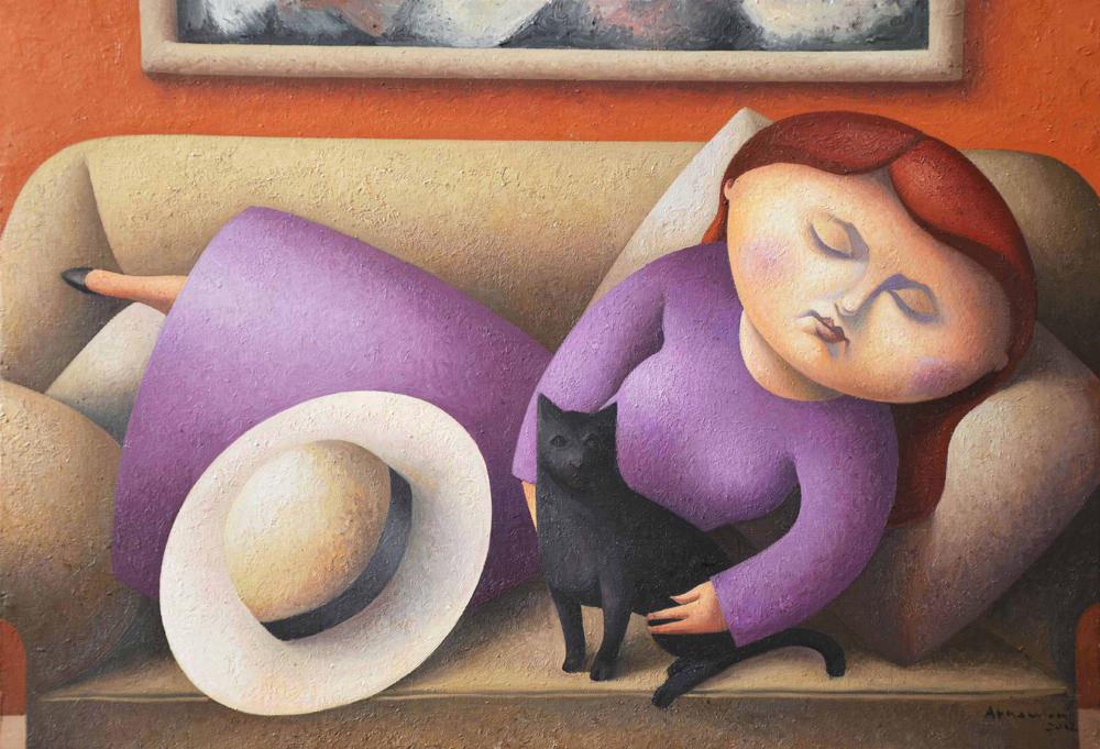N º 5  -El gato negro II  (2012) 38 x 55 cms