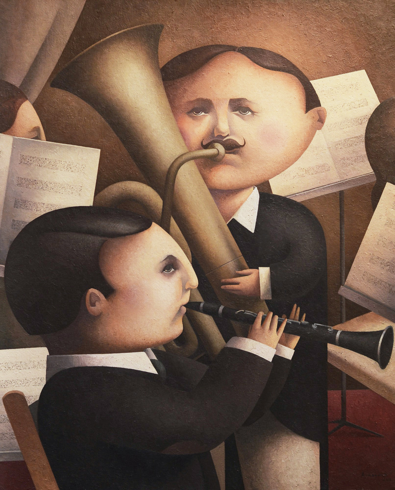 Nº 7 - El concierto  (2011) 100 x 81 cms óleo s lienzo