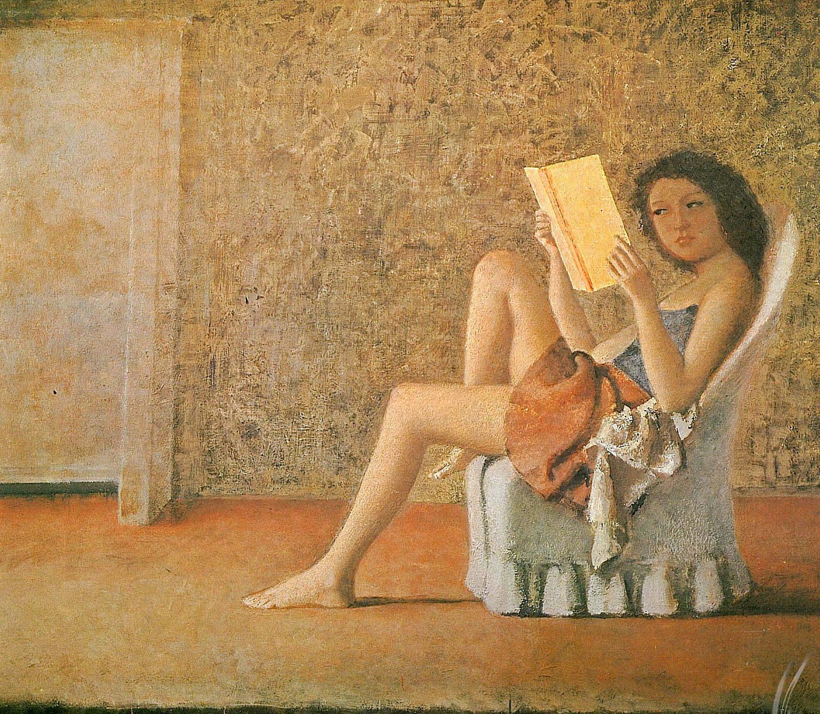 Шокирующий, знаменитый, гениальный Бальтюс. katia-reading-1974