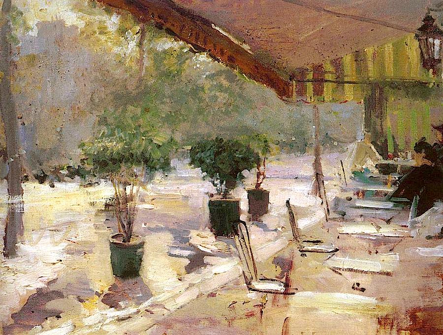 Парижском кафе, 1890  Константин Коровин