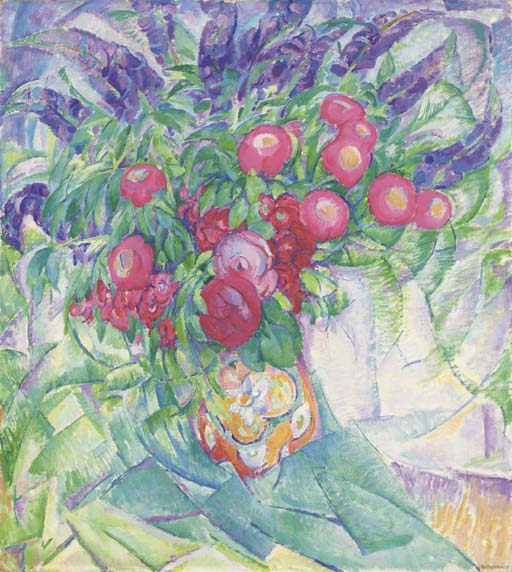 Leo_Gestel_Still_life_with_peonies_anemones_and_lupins_1913
