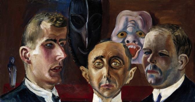 Otto-Dix-Group-Portrait.-Gunther-Franke-Paul-Ferdinand-Schmidt-and-Karl-Nierendorf