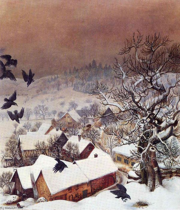 Otto-Dix-Randegg-in-the-snow-with-ravens