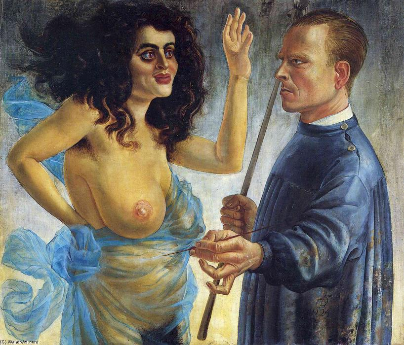 Otto-Dix-Self-Portrait-with-Muse