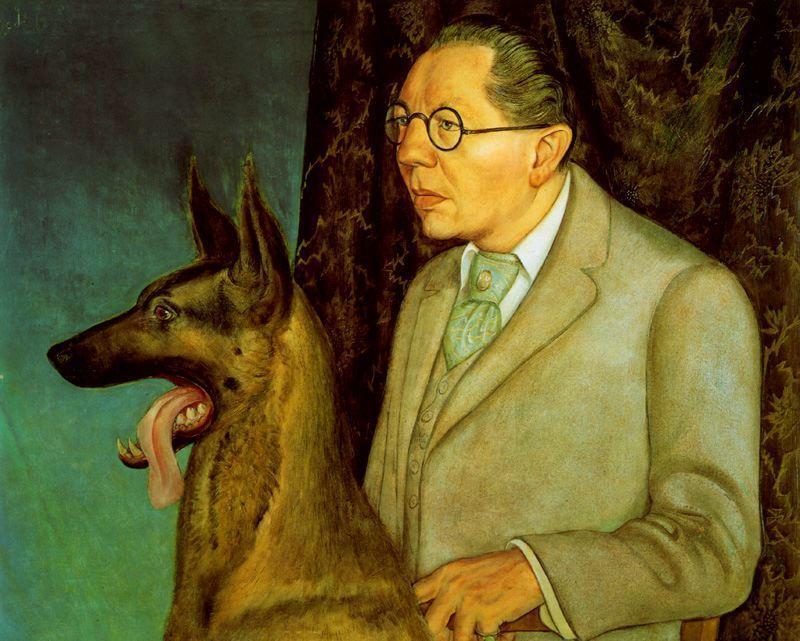 Уго Erfurth с собакой