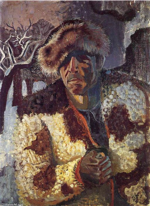 Otto-Dix-Self-portrait-with-fur-cap
