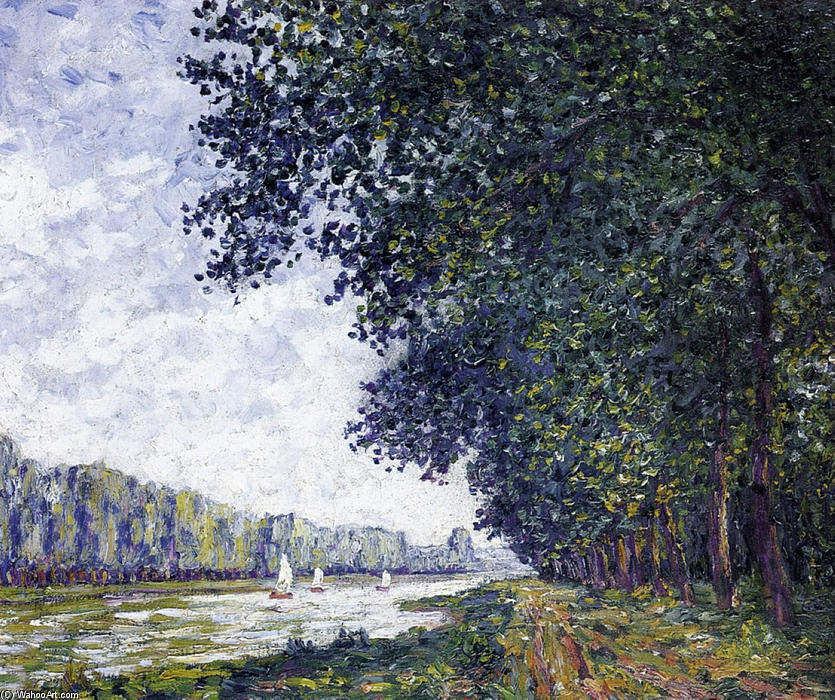 Francis-Picabia-Banks-of-the-Orne-at-Benouville