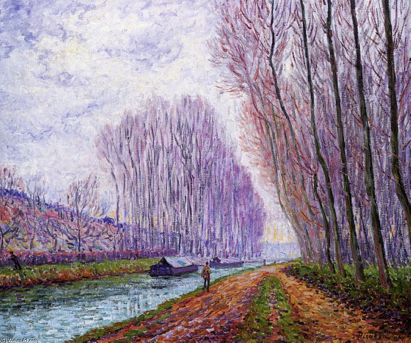 Francis-Picabia-Barges-on-the-Loing-Morning-Effect