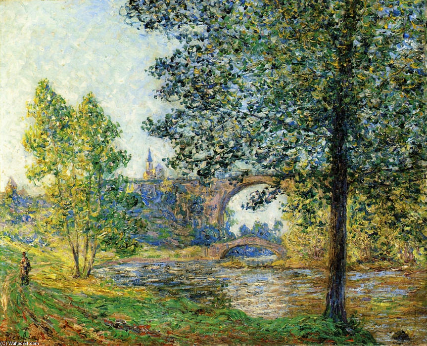 Francis-Picabia-The-Eure-in-the-Twilight-Sun