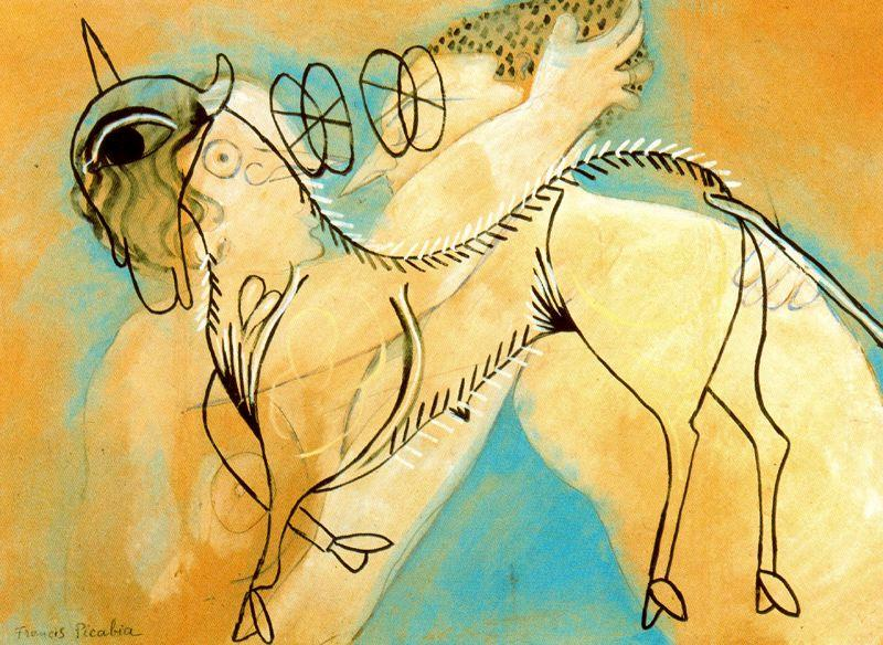 Francis-Picabia-Cordero-M-stico-y-beso