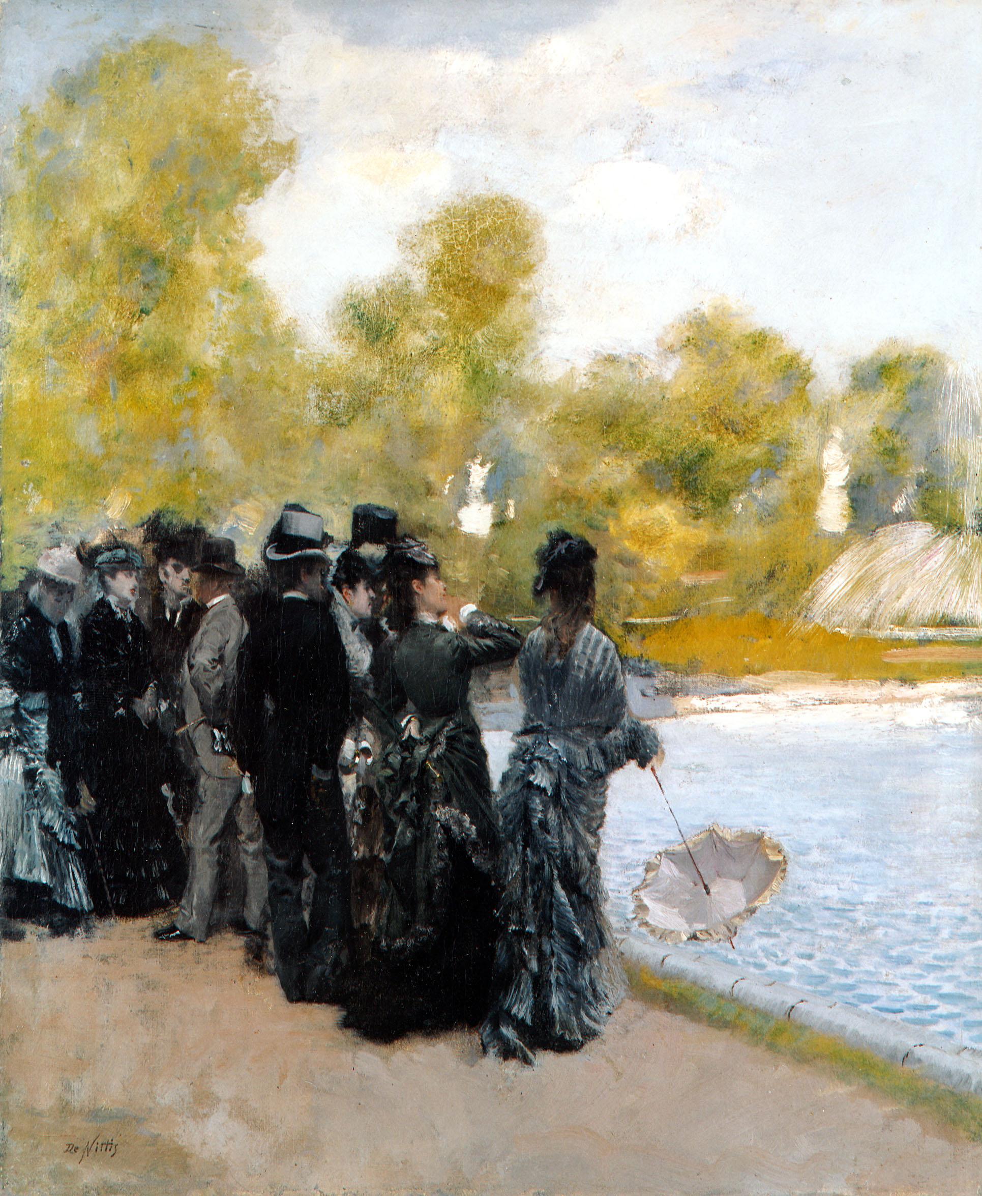 giuseppe-de-nittis-accanto-al-laghetto-dei-giardini-del-lussemburgo-1875-olio-su-tela-cm-46x38-collezione-privata-courtesy-galleria-bottegantica-bologna-milano (1)
