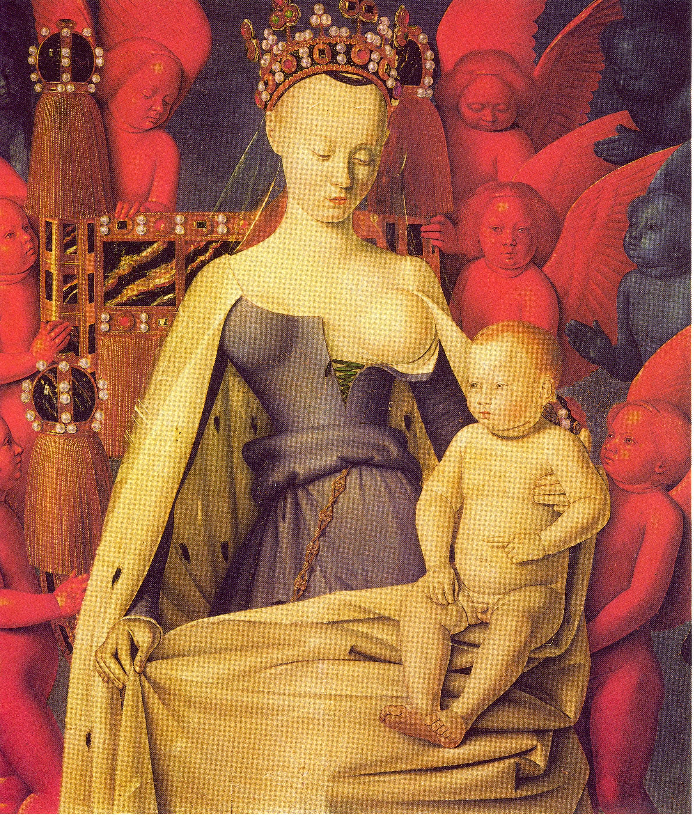 Jean_Fouquet_La_Vierge_entouree_d_anges_vers_1450