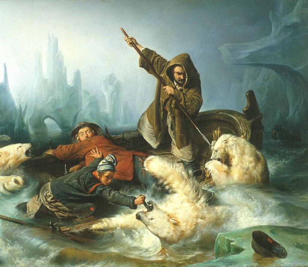 François-Auguste Biard La Chasse aux Ours Polaire