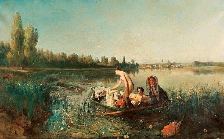 Francois-Auguste_Biard_-_Le_Bain_des_Canotières