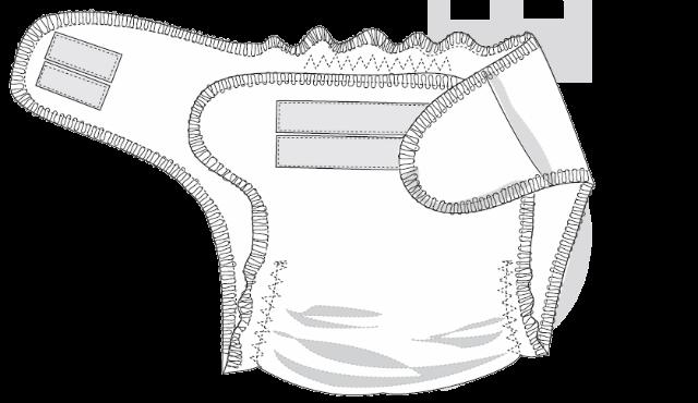 Выкройка многоразовый подгузник своими руками