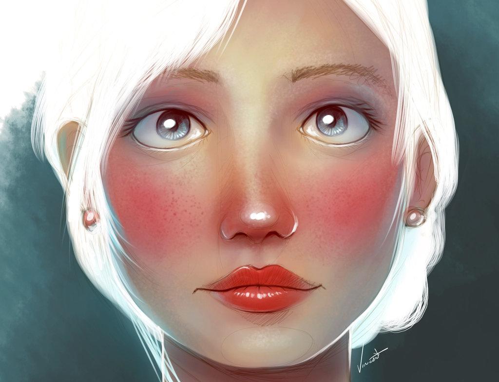 Красивый-рисунок-девушки-by-Vincent-Hachen