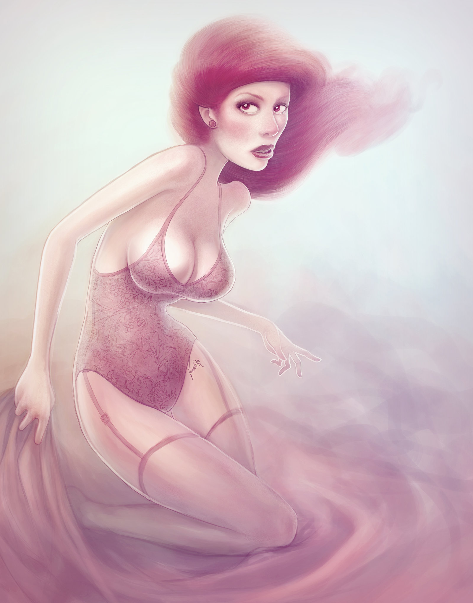 Иллюстрации-девушек-by-Vincent-Hachen