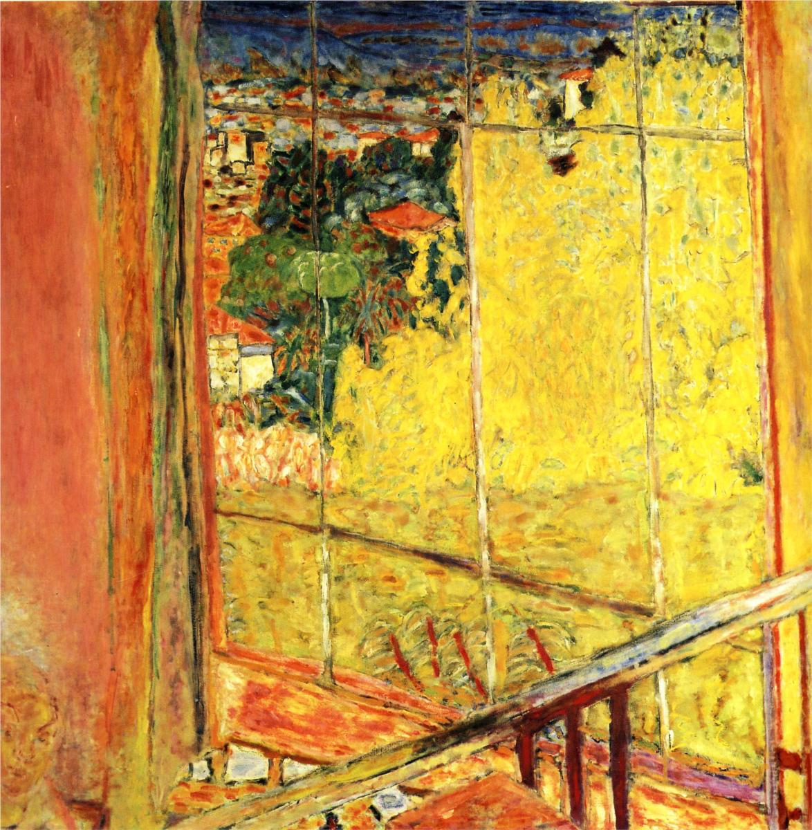 the-workshop-with-mimosa-1935-by-Pierre-Bonnard