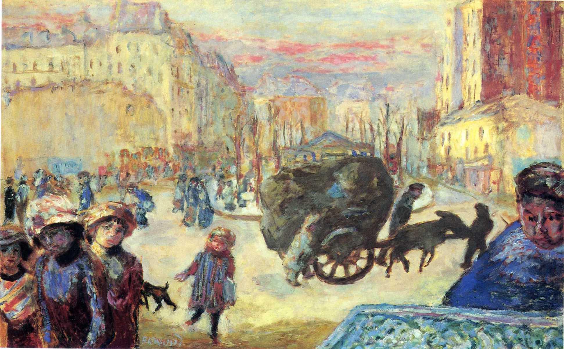 модерн_фр ар нуво_наби Боннар Пьер Утро в Париже-1911