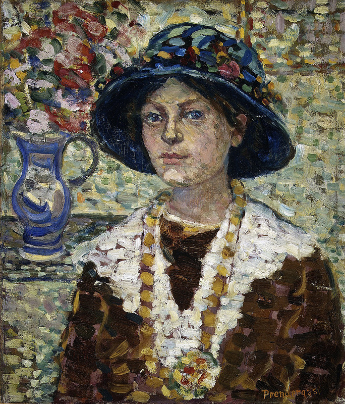 Prendergast, Maurice - Portrait of a Girl with Flowers - c1910-13