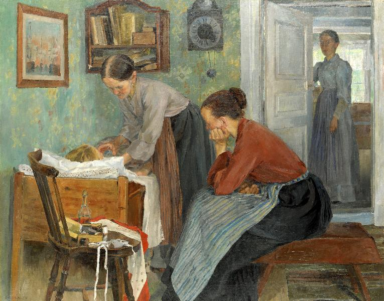 Carl Wilhelmson (1866-1928)-det -syge-barn1896