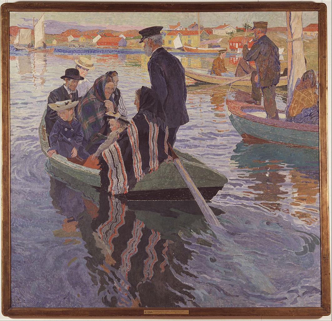 1061px-Carl_Wilhelmson_-_Church-Goers_in_a_Boat_-_Google_Art_Project