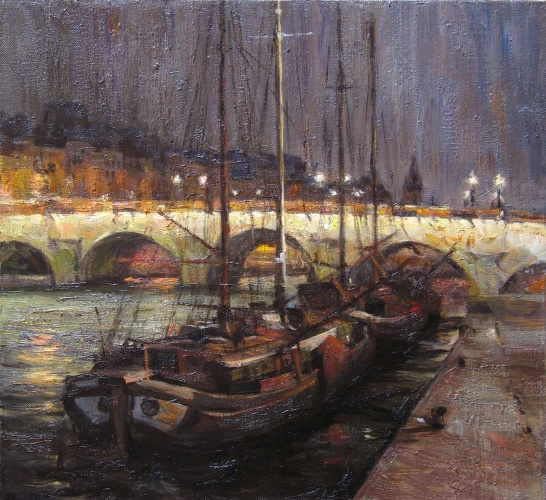 Landscape painting,contemporary Russian artist,oil painting (3)
