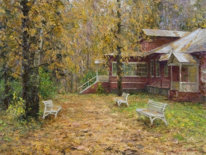 Landscape painting,contemporary Russian artist,oil painting (5)