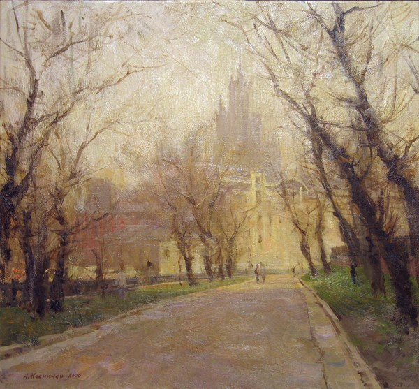 Landscape painting,contemporary Russian artist,oil painting (9)