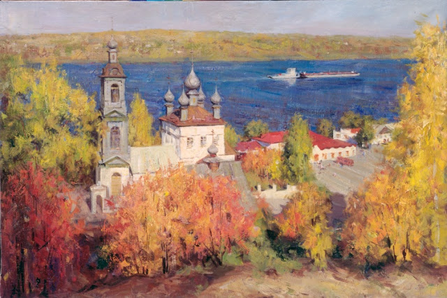Landscape painting,contemporary Russian artist,oil painting (16)