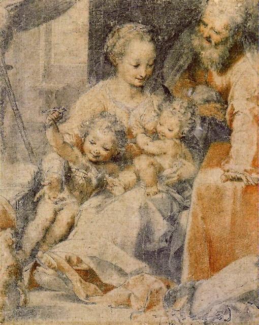 Federico Barocci - Drawing of the Madonna del Gatto