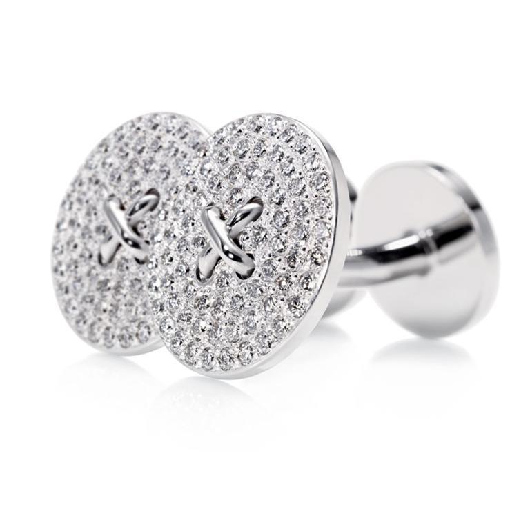 Diamond-Button-Cufflinks-220-round-brilliant-diamonds-18k-white-gold