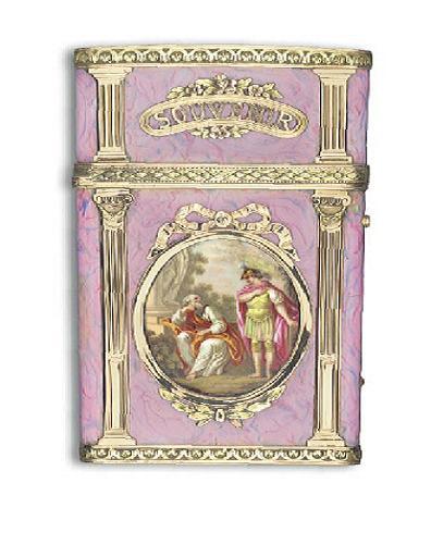 A LOUIS XVI ENAMELLED VARI-COLOUR GOLD CARNET-DE-BAL