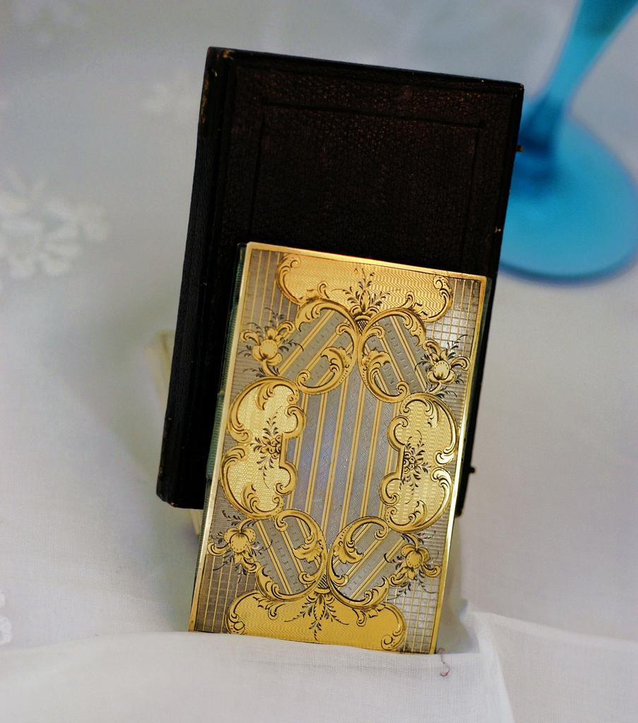 Antique French Sterling Silver Gold Plate Vermeil Carnet Du Bal