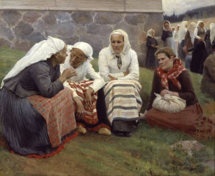 albert-edelfelt-ladies-outside-church
