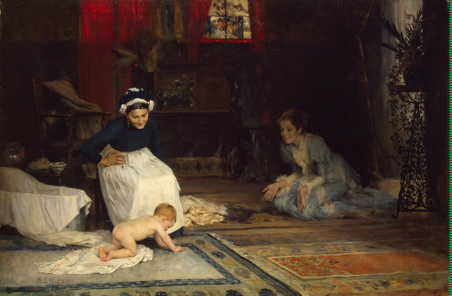 Edelfelt_Albert_(Gustaf_Aristides)-ZZZ-In_the_Nursery