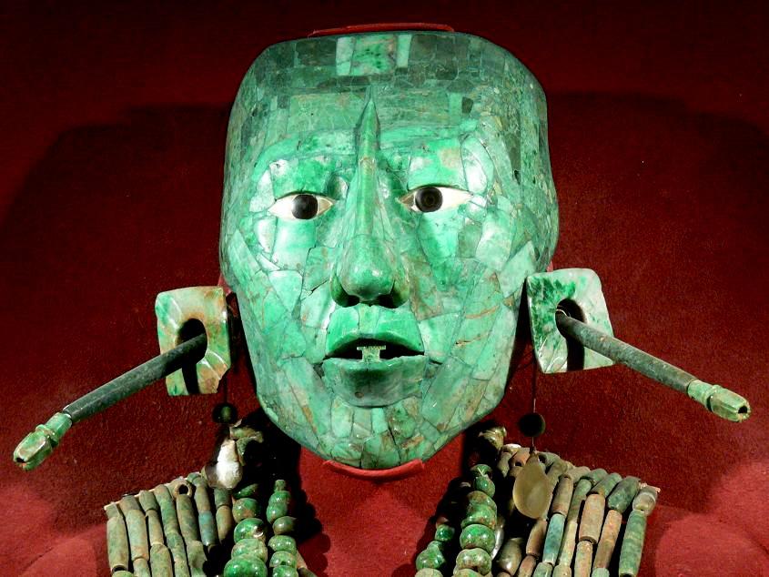 Máscara funeraria del rey Pakal de Palenque Maya