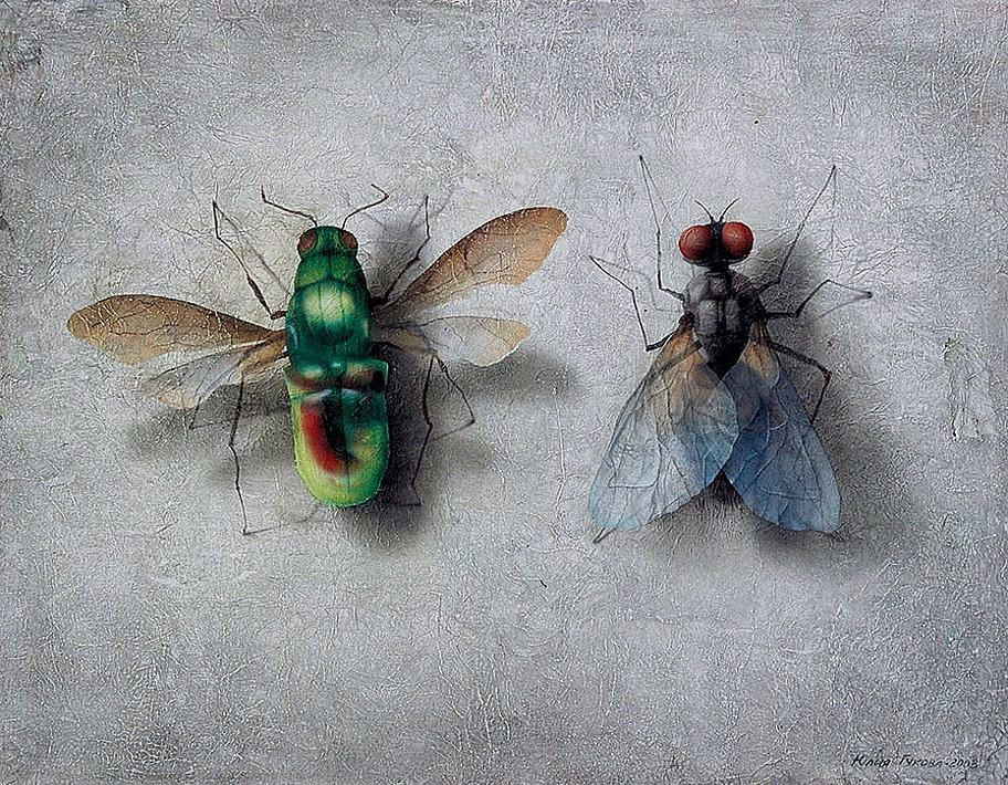 la mosca dorada - 120 x 95 cm. 1