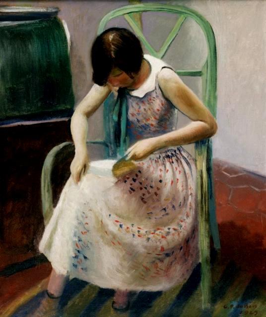 girlreadingabook1929