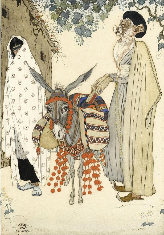 El anciano y la belleza de pelo negro - 1924