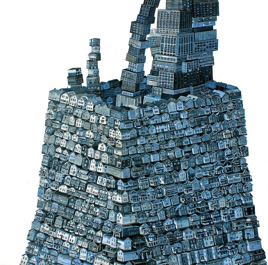 Ciudad interior - 2012 - 30 x 30