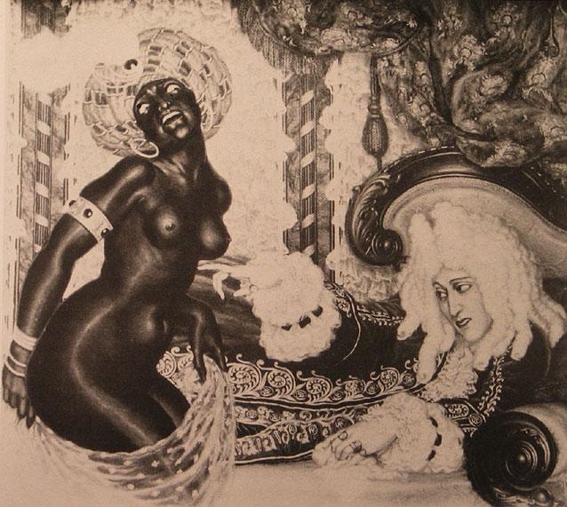 12 - Autorretrato con mujer negra - 1923