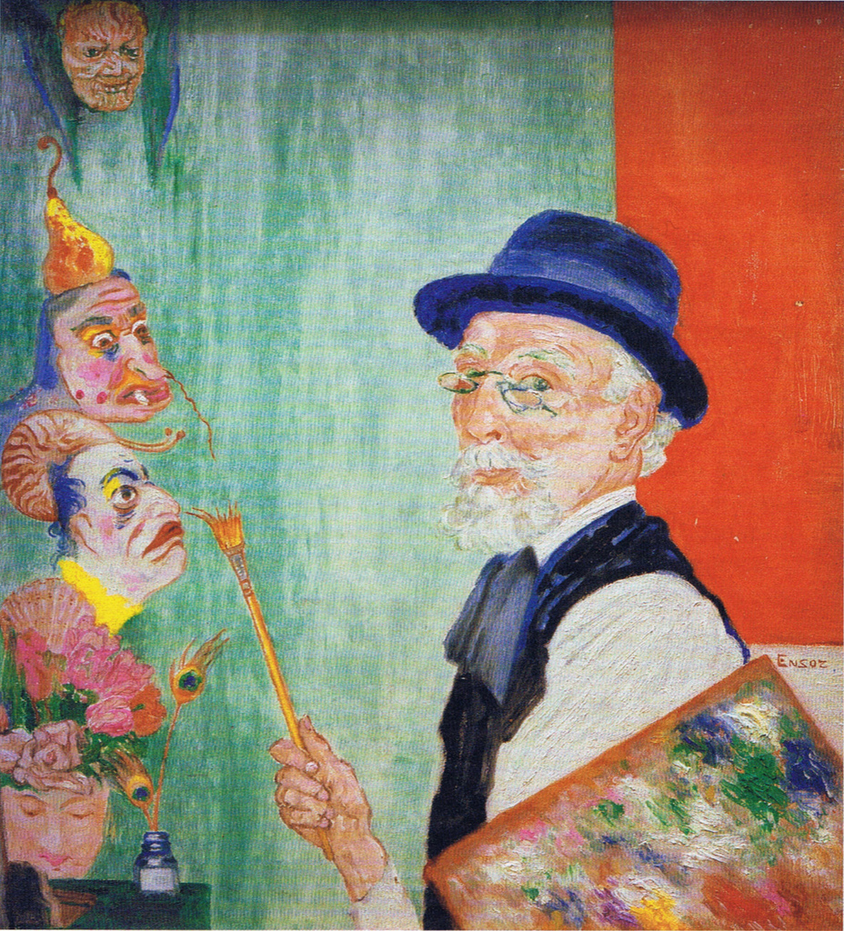 Живопись_James-Ensor_Self-Portrait-with-Masks.-1936.jpg