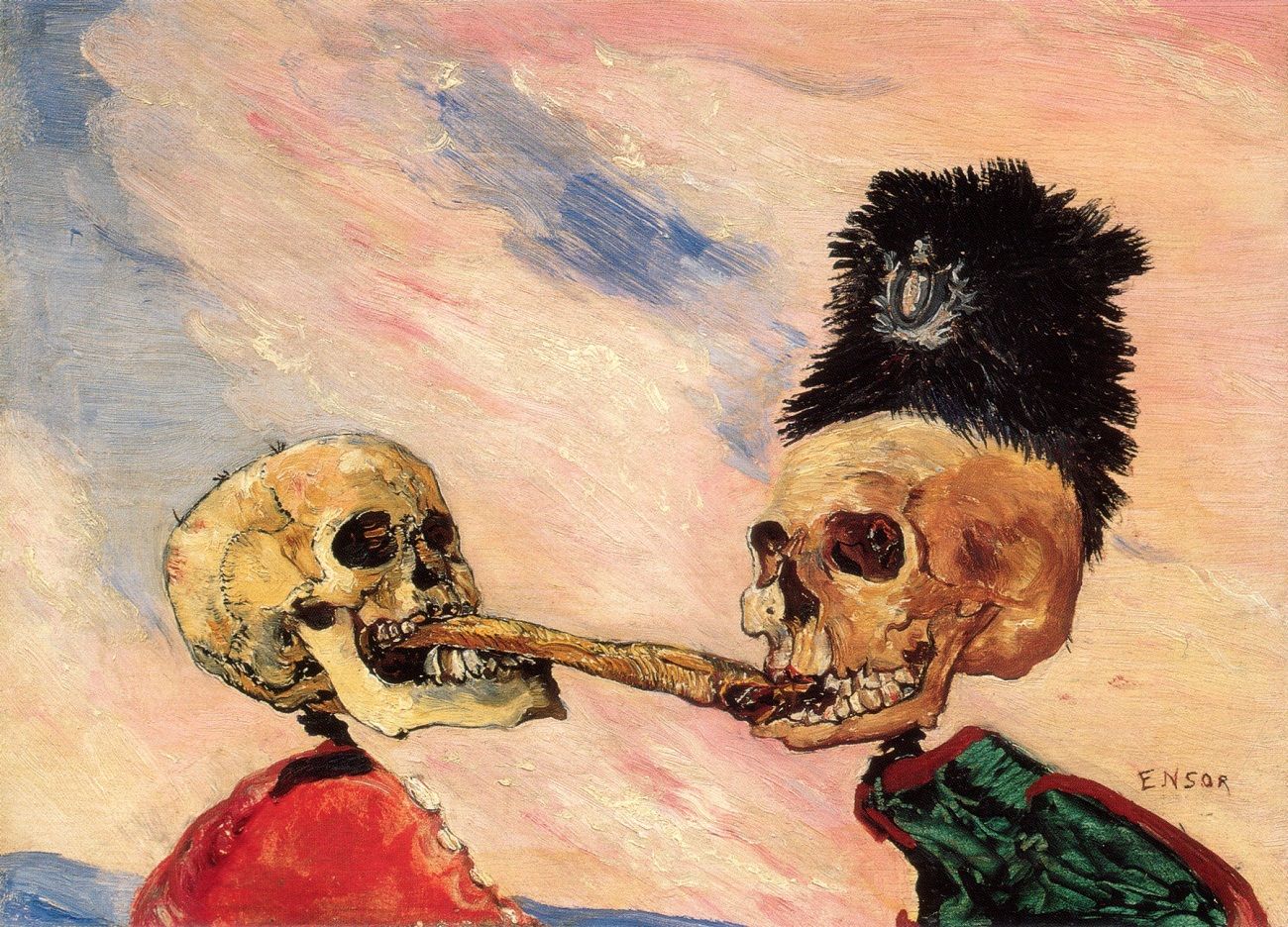 Живопись_James-Ensor_Skeletons-Fighting-Over-a-Pickled-Herring.-1891.jpg