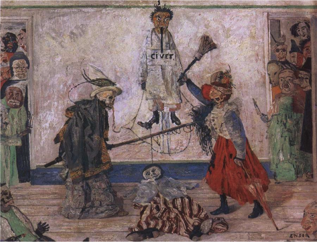 Живопись_James-Ensor_Skeletons-Fighting-over-a-Hanged-Man.1891.png