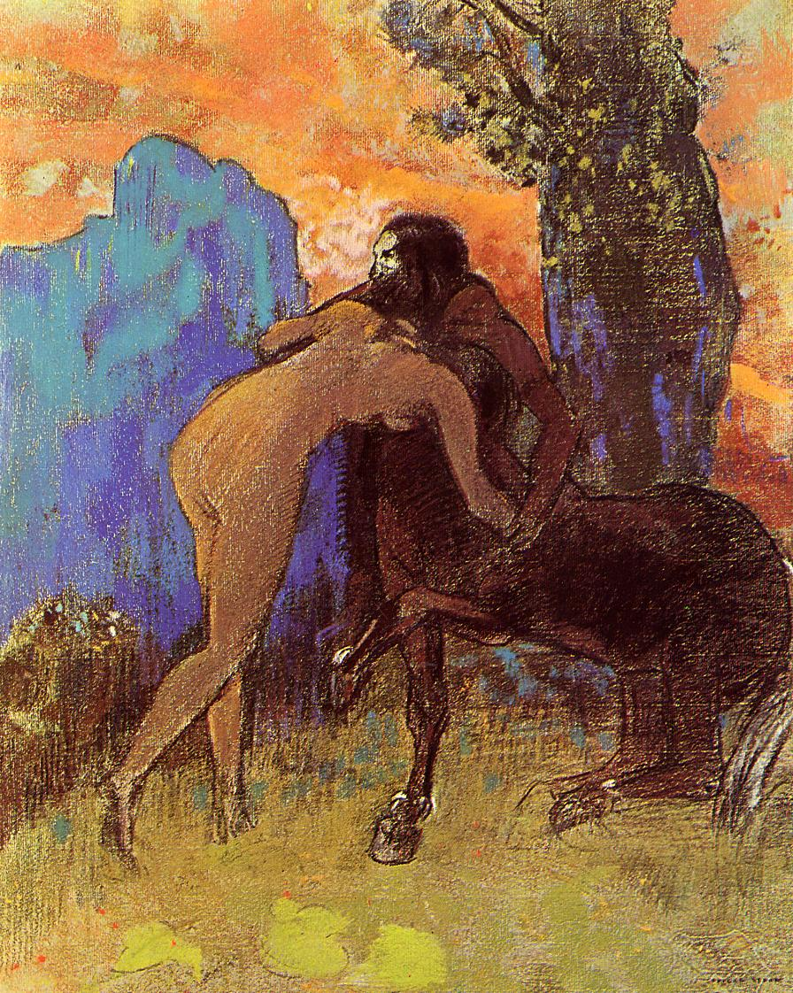 Графика_Одилон-Редон_Struggle-Between-Woman-and-Centaur-1905.jpg