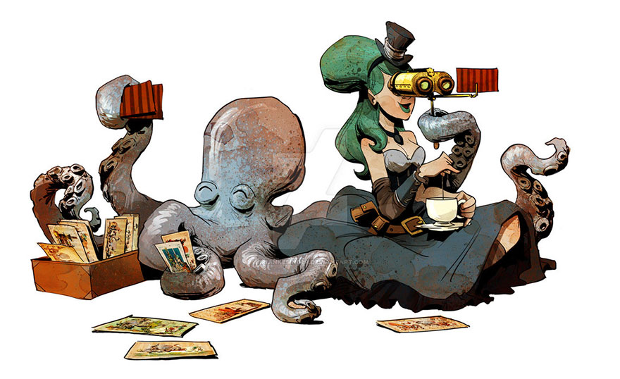 octopus-otto-and-victoria-steampunk-illustrations-brian-kesinger-28-59438b8563a2b__880.jpg