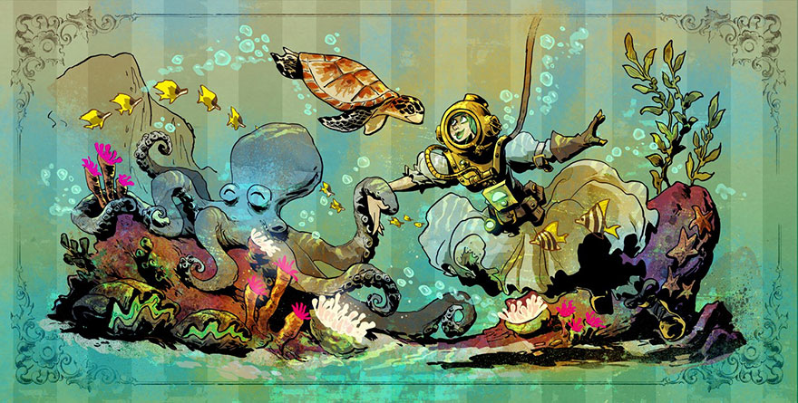 octopus-otto-and-victoria-steampunk-illustrations-brian-kesinger-33-59438b9185e3b__880.jpg