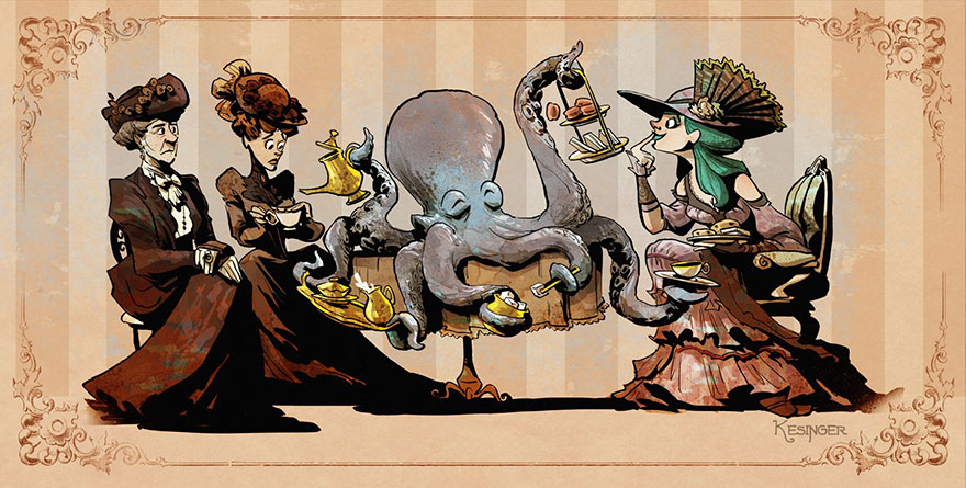 octopus-otto-and-victoria-steampunk-illustrations-brian-kesinger-83-59438c11623ff__880.jpg