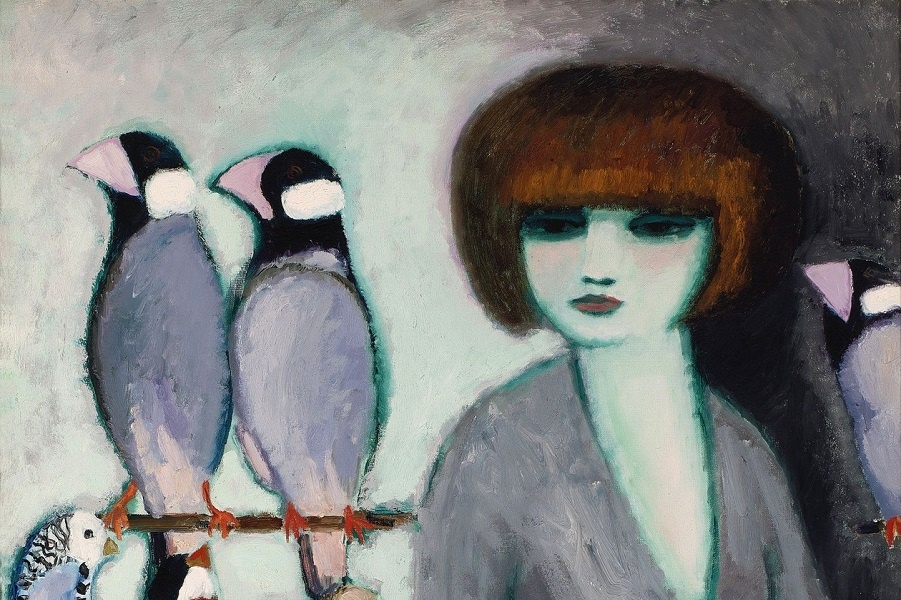 1_1962_Дама с попугаями (Elegante Aux Perroquets)_92.2 х 73_х.,м._Частное собрание (1).jpg